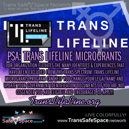 Trans Lifeline Microgrants Cuts Checks!