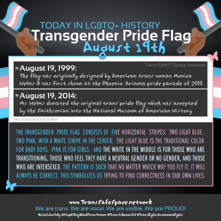Happy Birthday Trans Pride Flag!!!