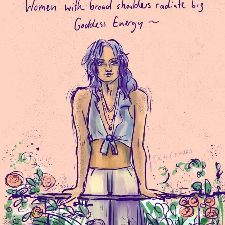 Women with broad shoulders...
